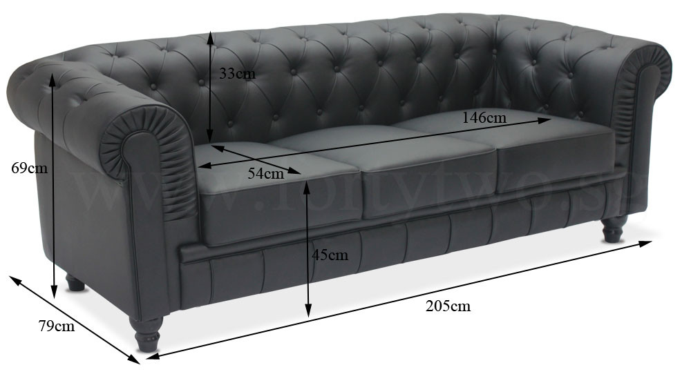 Benjamin Clical 3 Seater Pu Leather Sofa In Black 100 Customer Reviews