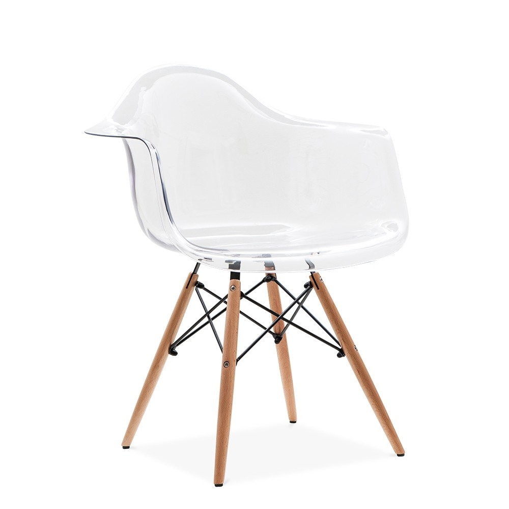 Eames replica designer arm chair clear furniture for Imitation designer chairs