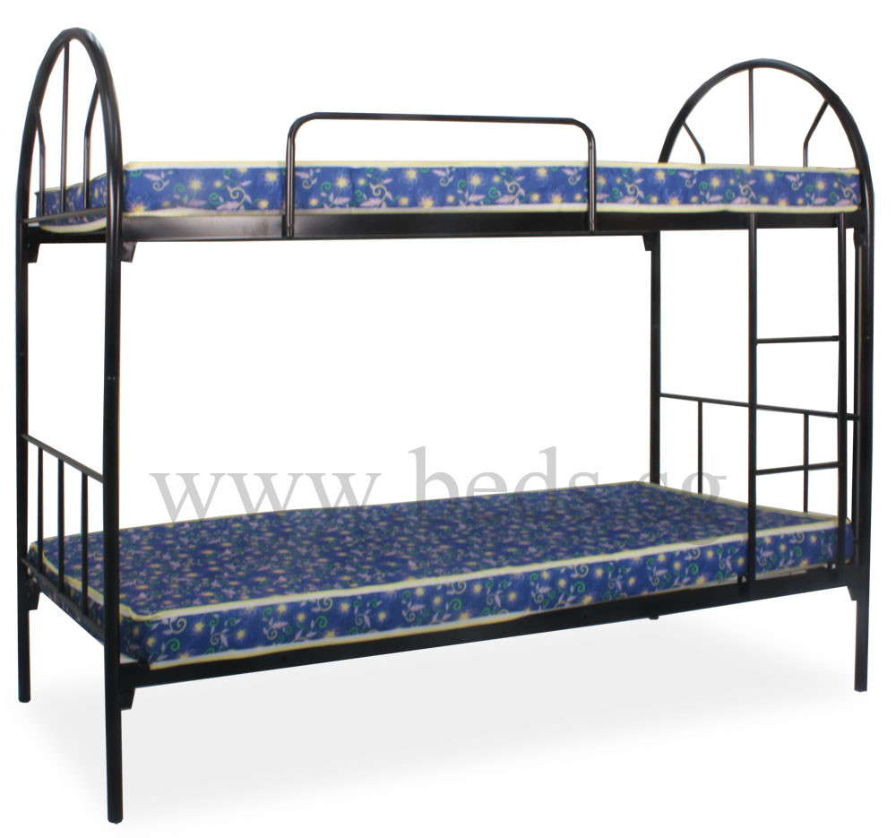 Dublin metal single size double deck bed furniture for Double deck bed images