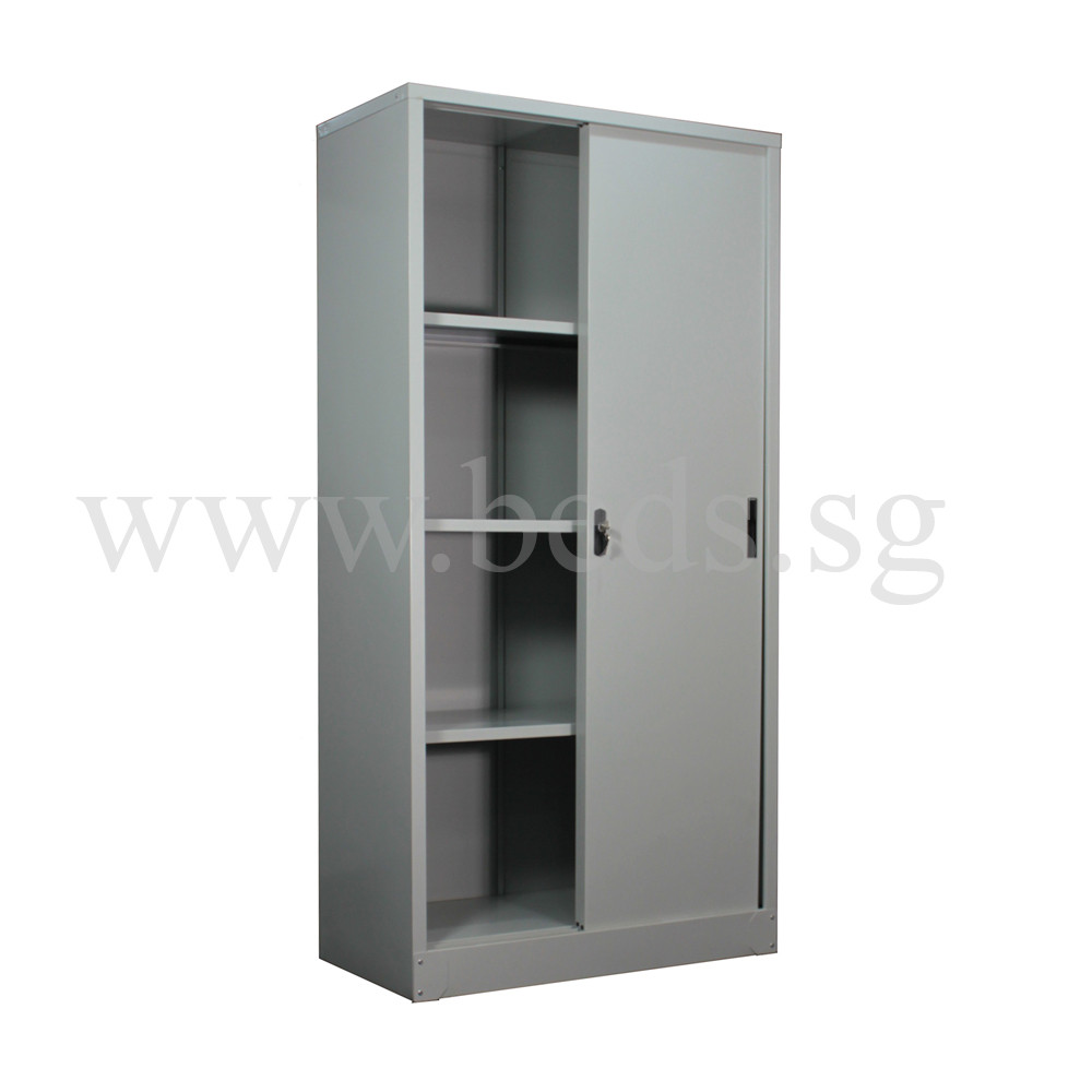 Tall Steel Filing Cabinet (Sliding Door)