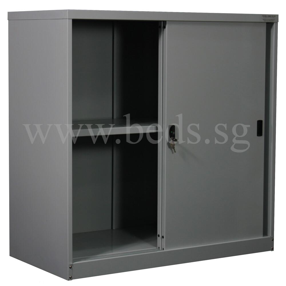 Low Steel Filing Cabinet Sliding Door Furniture Home Décor