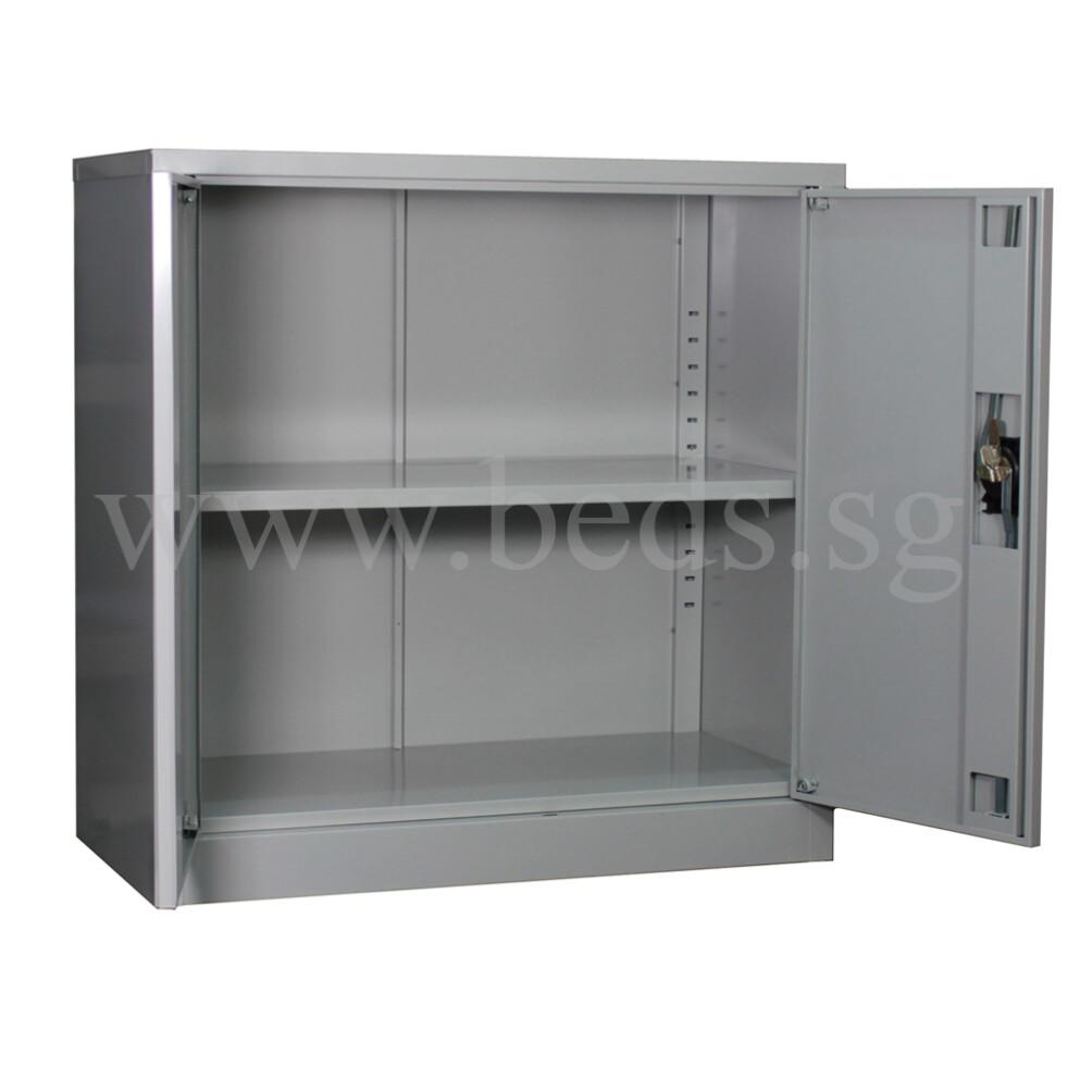 low steel filing cabinet swinging door furniture home d cor fortytwo. Black Bedroom Furniture Sets. Home Design Ideas