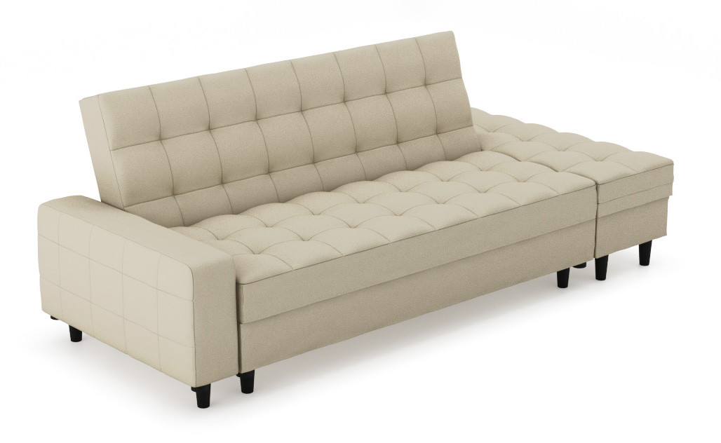 Fine Thora Multi Storage Sofa Bed Fabric Beige Gmtry Best Dining Table And Chair Ideas Images Gmtryco