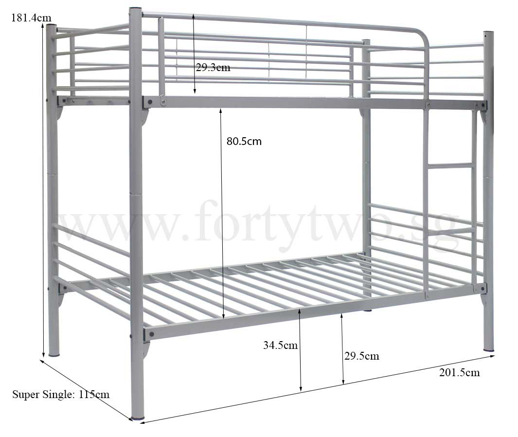 Double bunk beds dimensions best home design 2018 Double bed dimensions