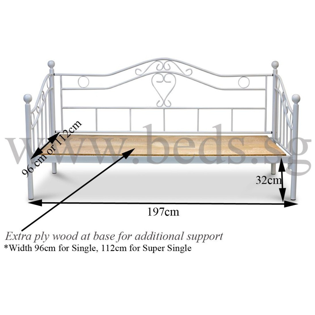 Parthena Metal Day Bed Furniture Home Decor Fortytwo