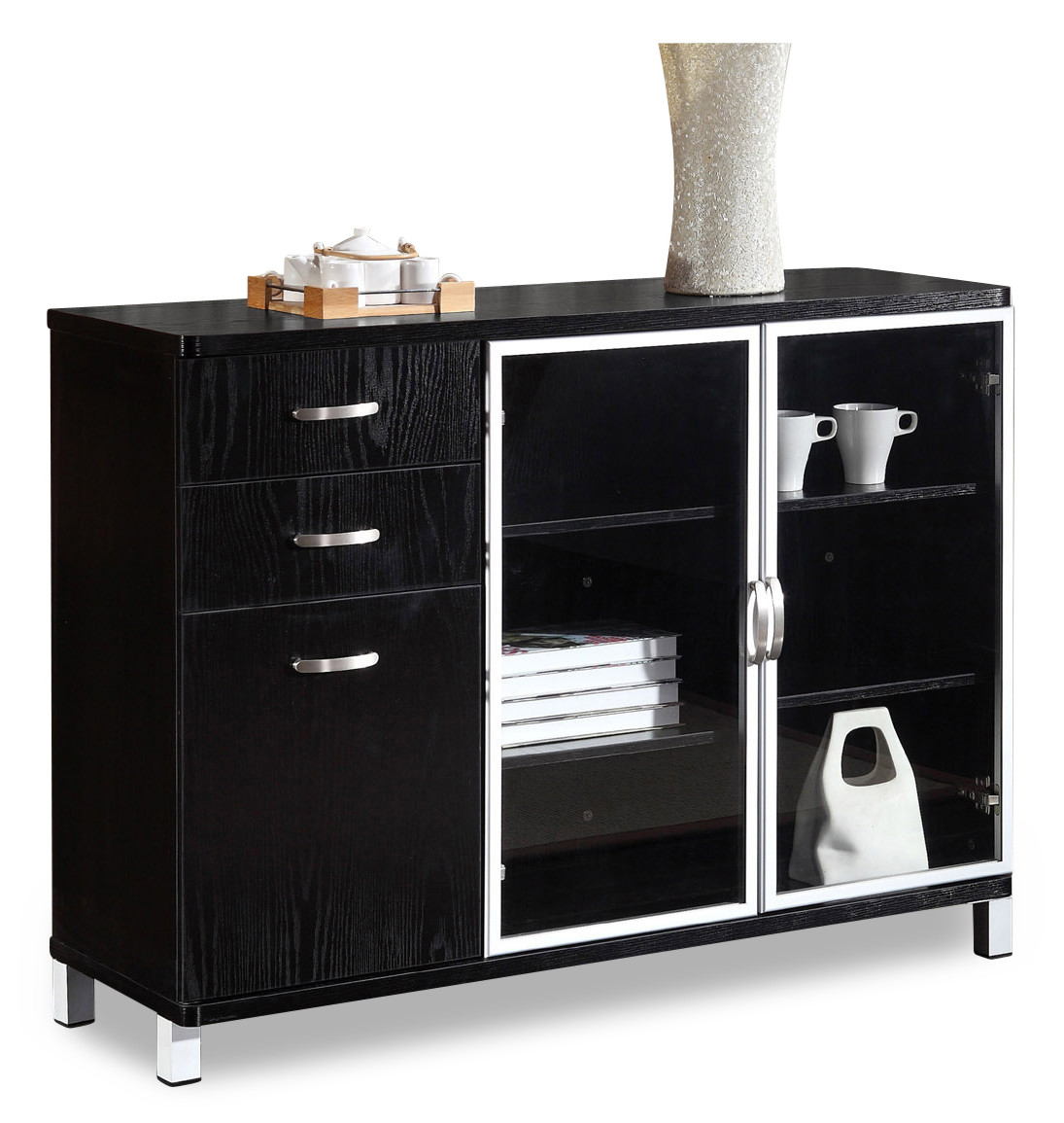 Andison Display Cabinet Black Display Cabinets Shelves Display Storage Cabinets Living