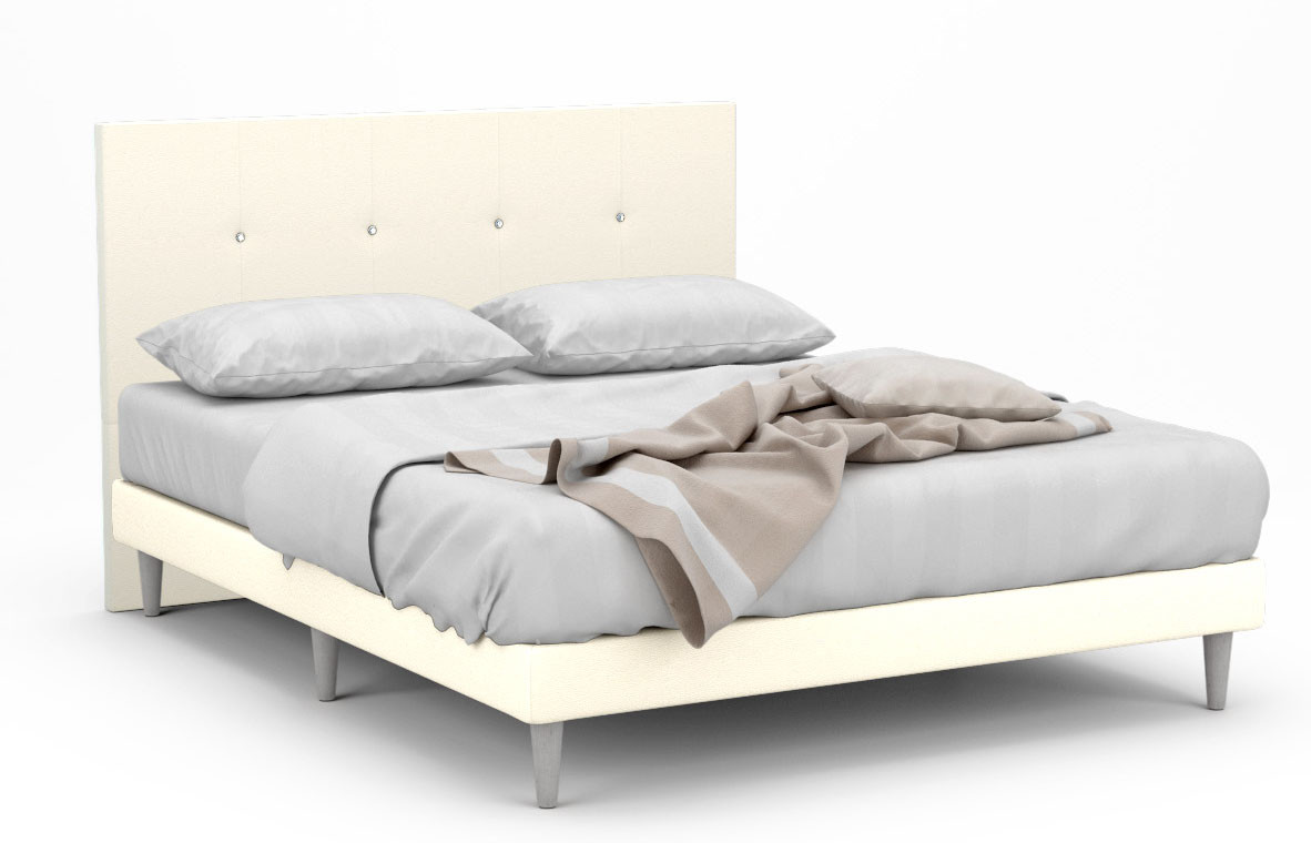Millbrook Faux Leather Bed Frame With White Legs Furniture Home