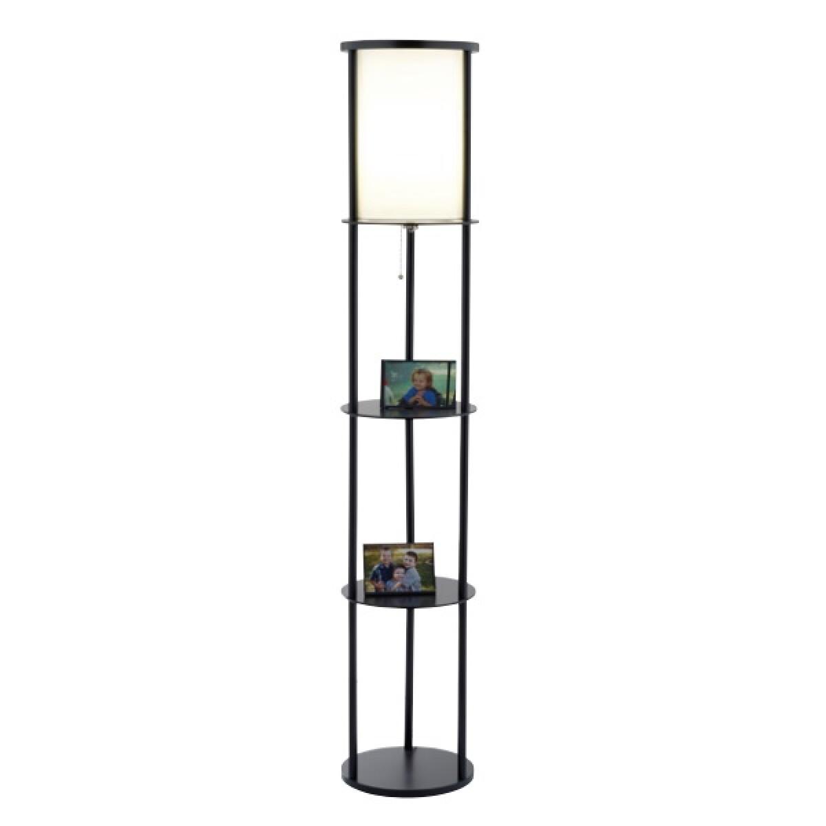 Adesso 1 Light Shelf Floor Lamp