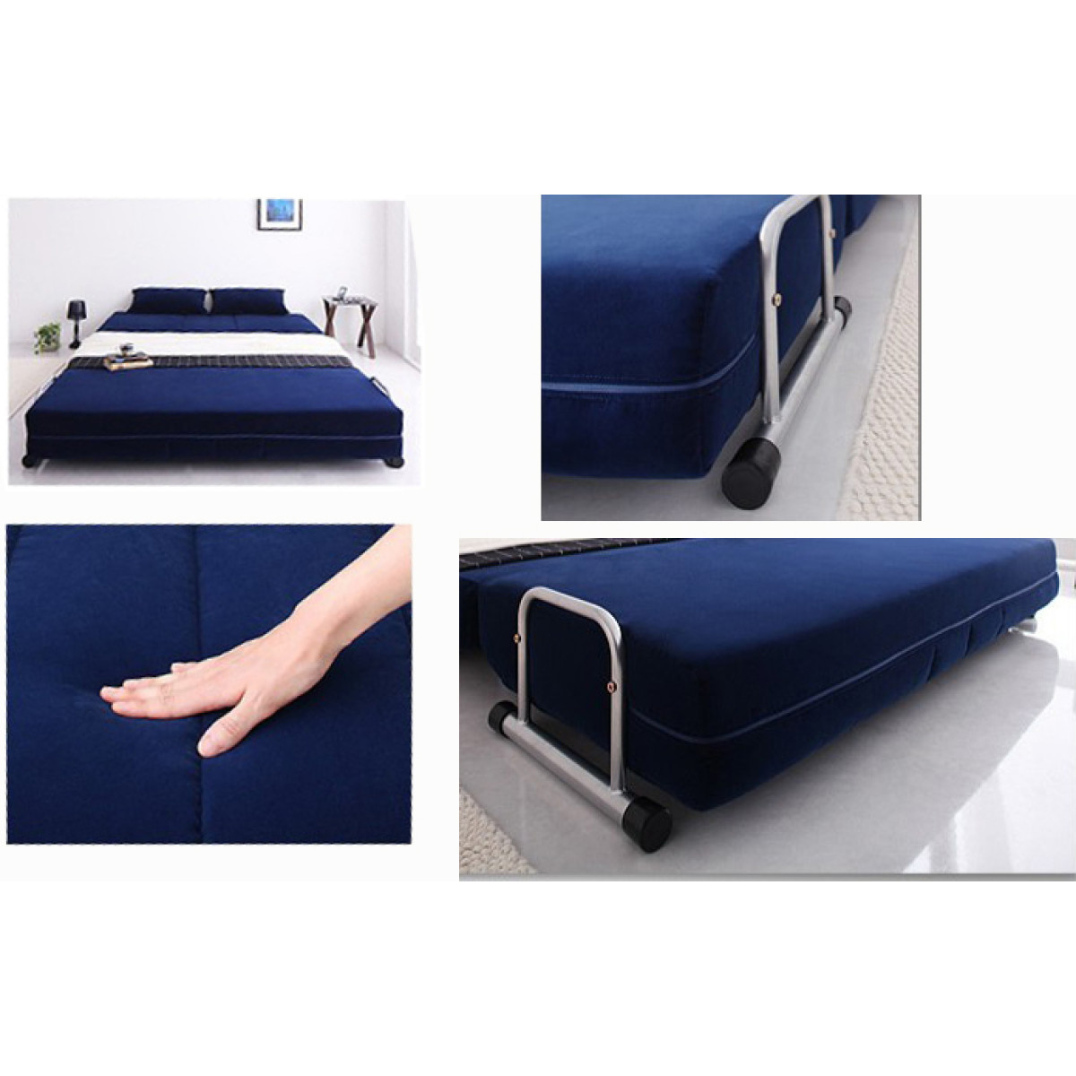 Rolly Sofa Bed Fabric Blue Furniture Home Decor Fortytwo