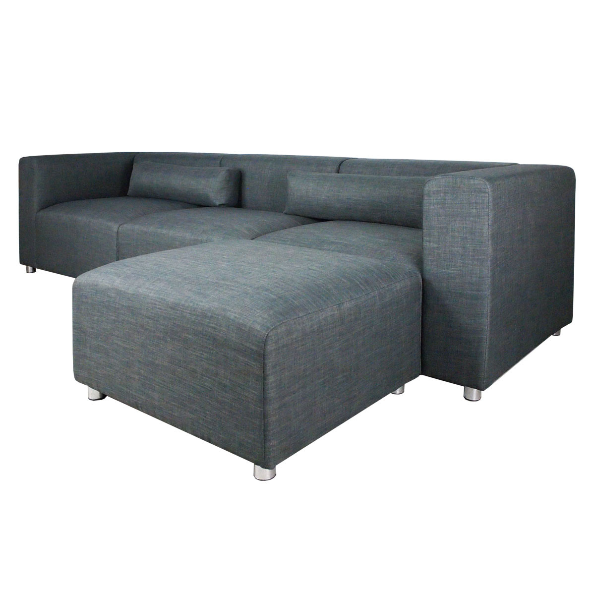 Modular Furniture Sofa: Houston 4 Pieces Modular Sofa Grey