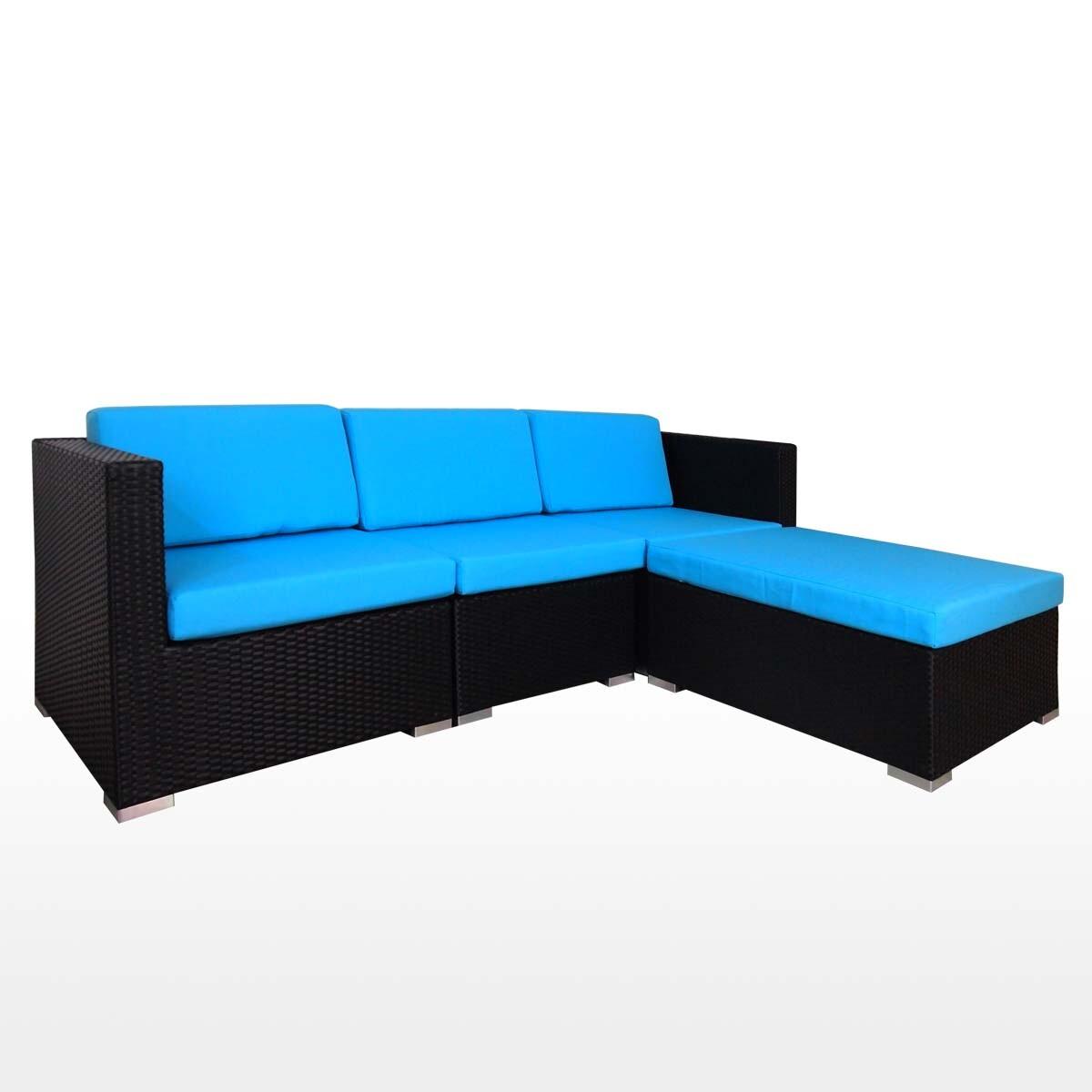Summer outdoor modular sofa set ii blue cushions 2 year for Sofa modular exterior