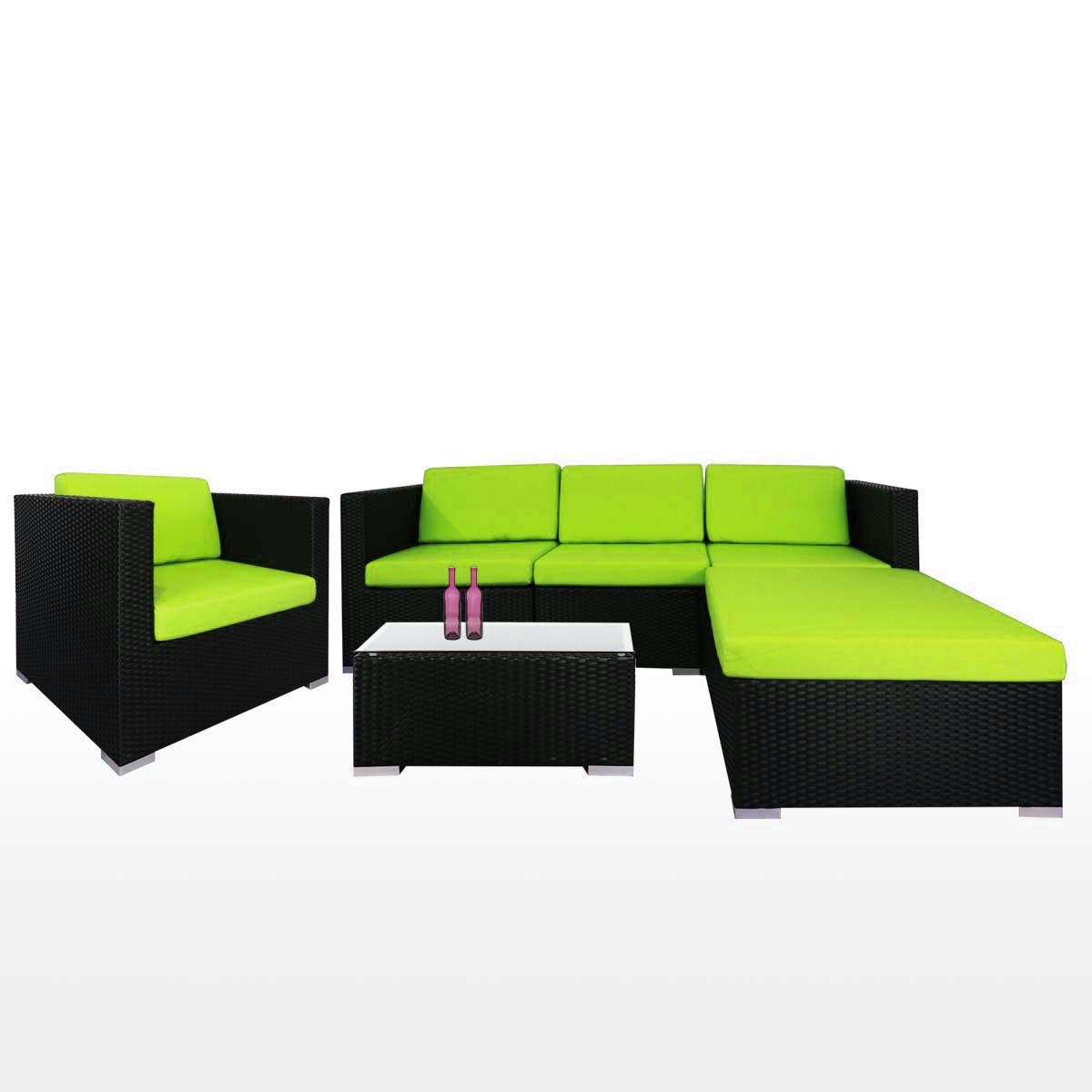 Summer Outdoor Modular Sofa Set Ii Green Cushions 2 Year Warranty Furniture Home D Cor