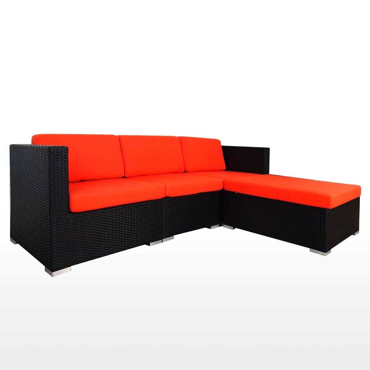 Summer Outdoor Modular Sofa Set Ii Orange Cushions