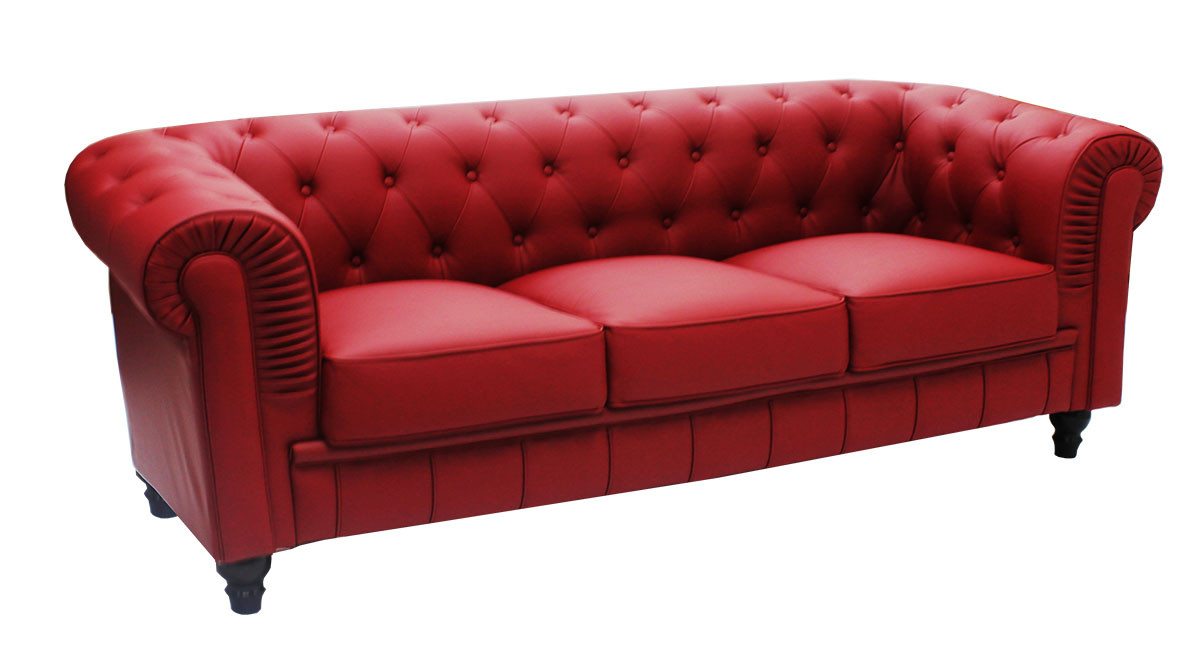 Pu Leather Sofa In Maroon 149 Customer Reviews