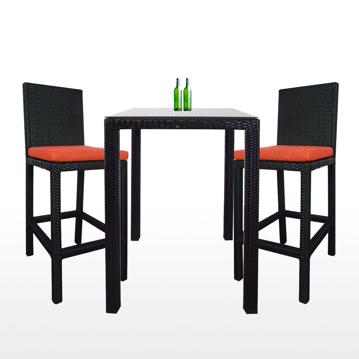 Midas 2 Chair Bar Set Orange Cushion 2 Year Warranty Furniture Home D Cor Fortytwo