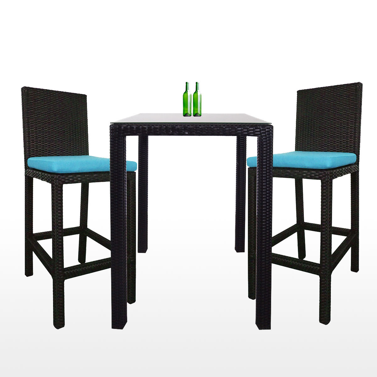 2 Chair Dining Set Two Table Decor