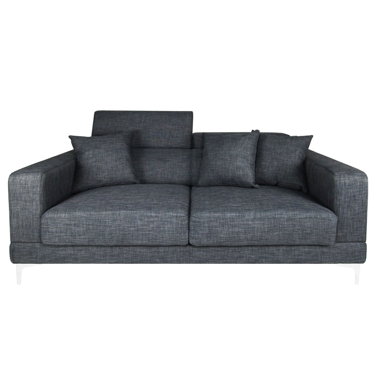 palais 3 seater sofa grey furniture home d cor fortytwo. Black Bedroom Furniture Sets. Home Design Ideas