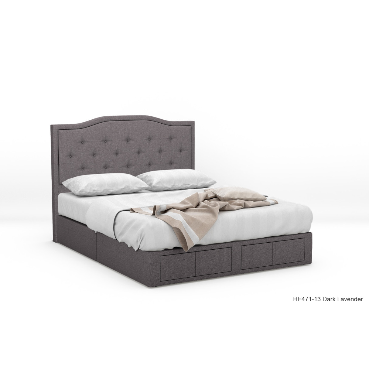 Zotphase Fabric Drawer Bed Furniture