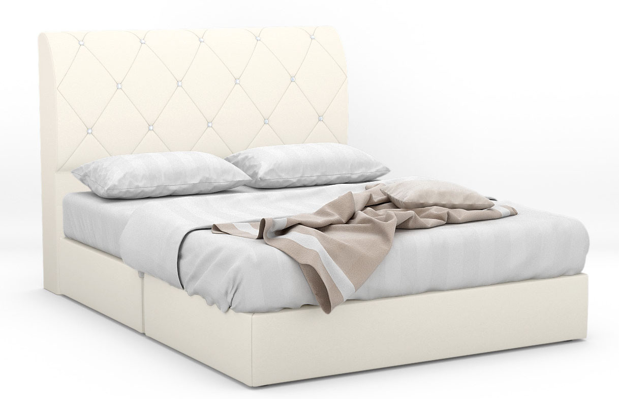 Trisis Faux Leather Bed Frame | Furniture & Home Décor | FortyTwo