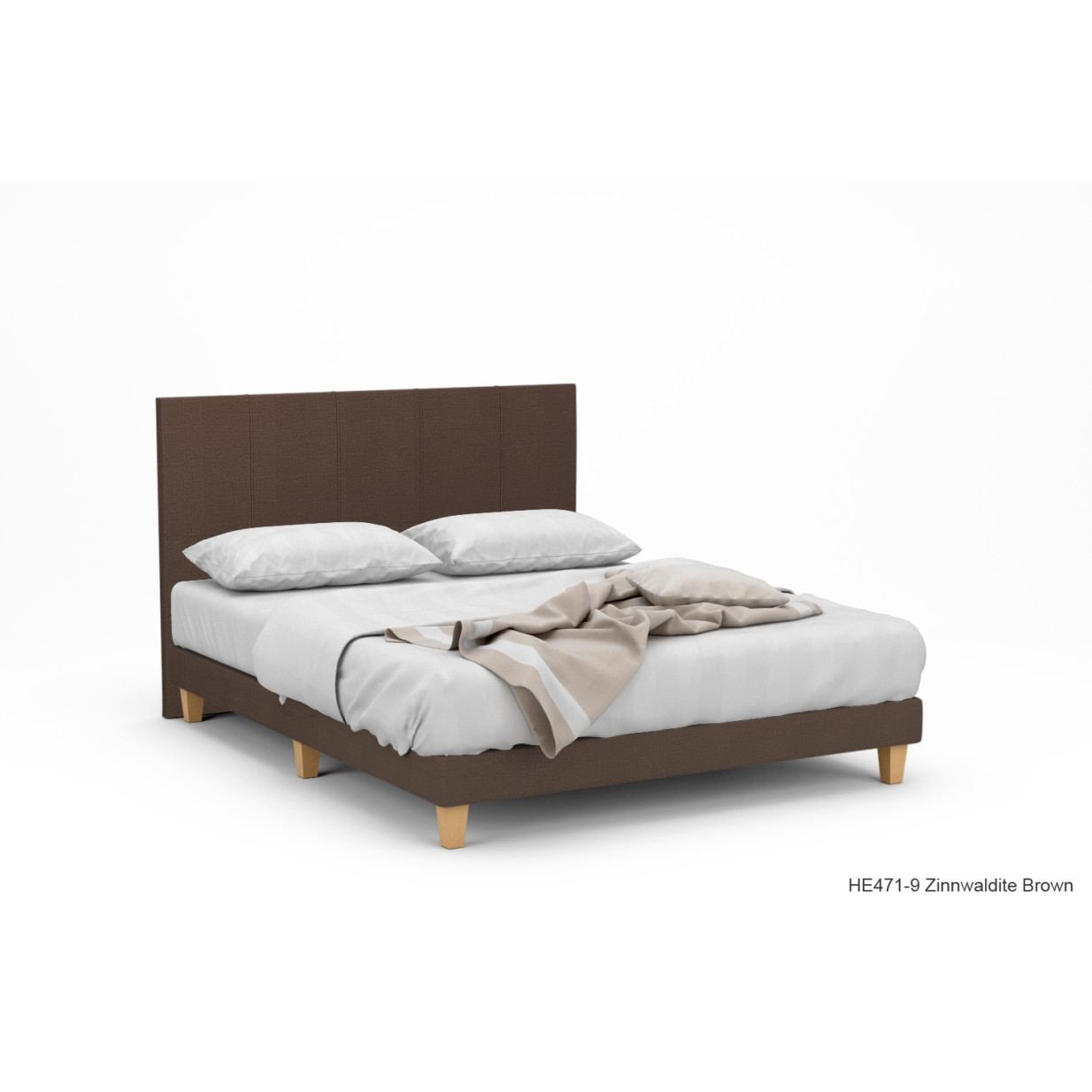 Dane II Fabric Bed Frame With Beech Legs | Furniture & Home Décor ...