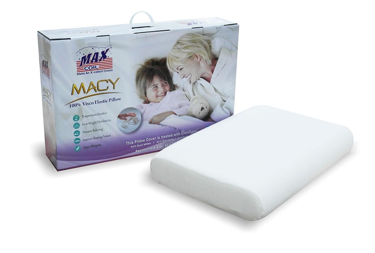 MaxCoil Macy Memory Foam PIllow Furniture & Home Decor FortyTwo