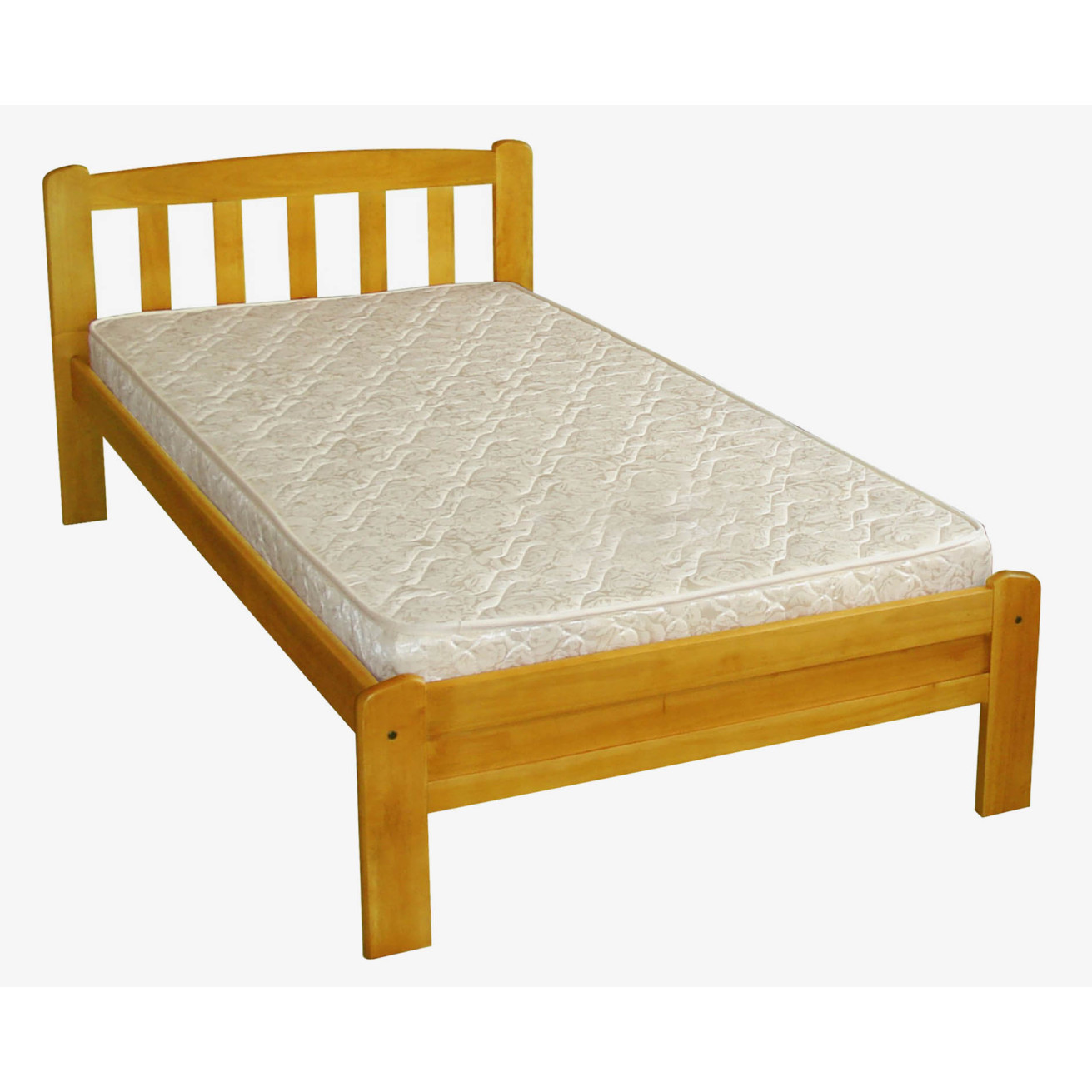 Arvika Wooden Bed Frame In Single Sized Wooden Bed