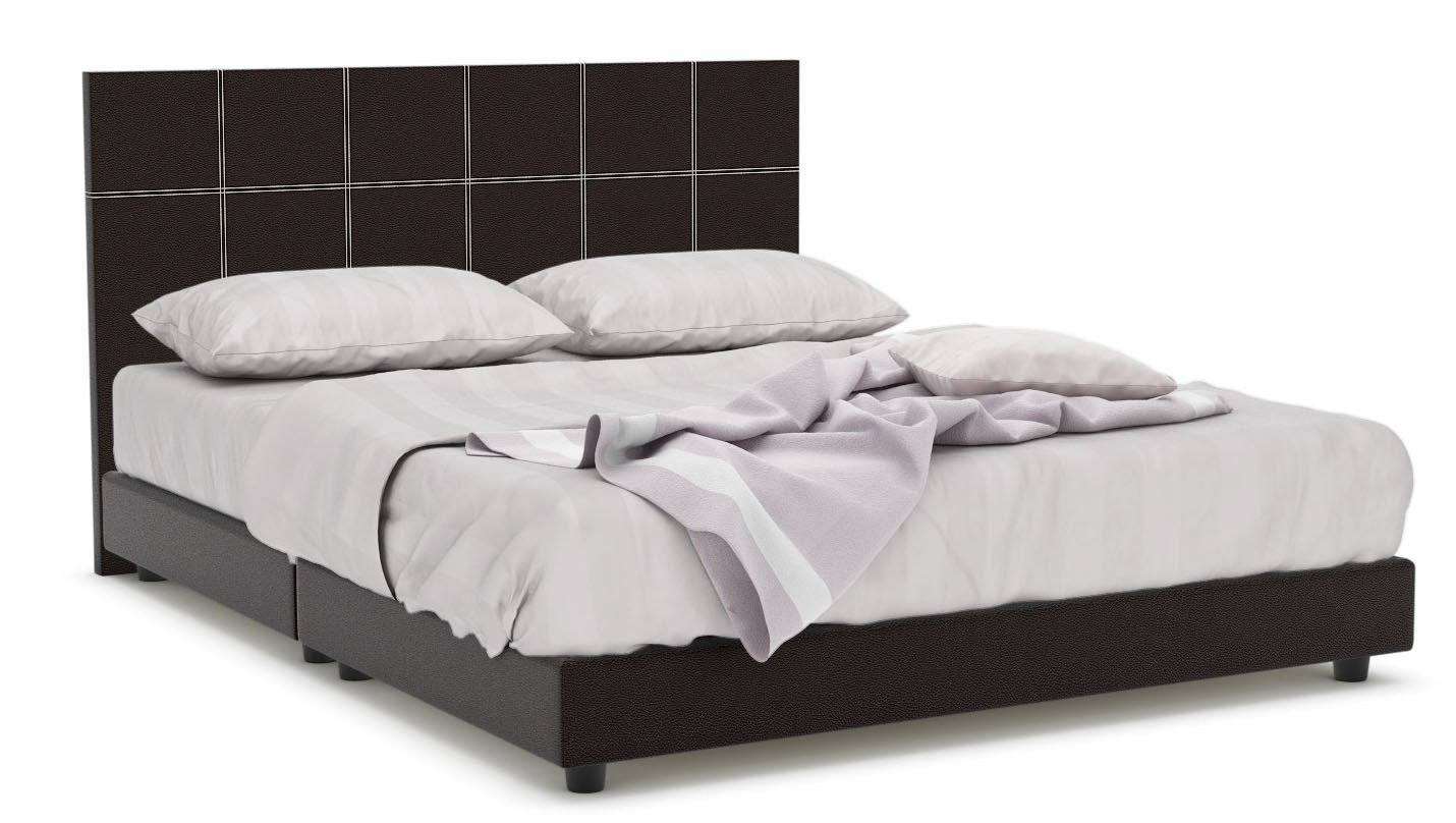 Quadeco Faux Leather Bed Frame Queen