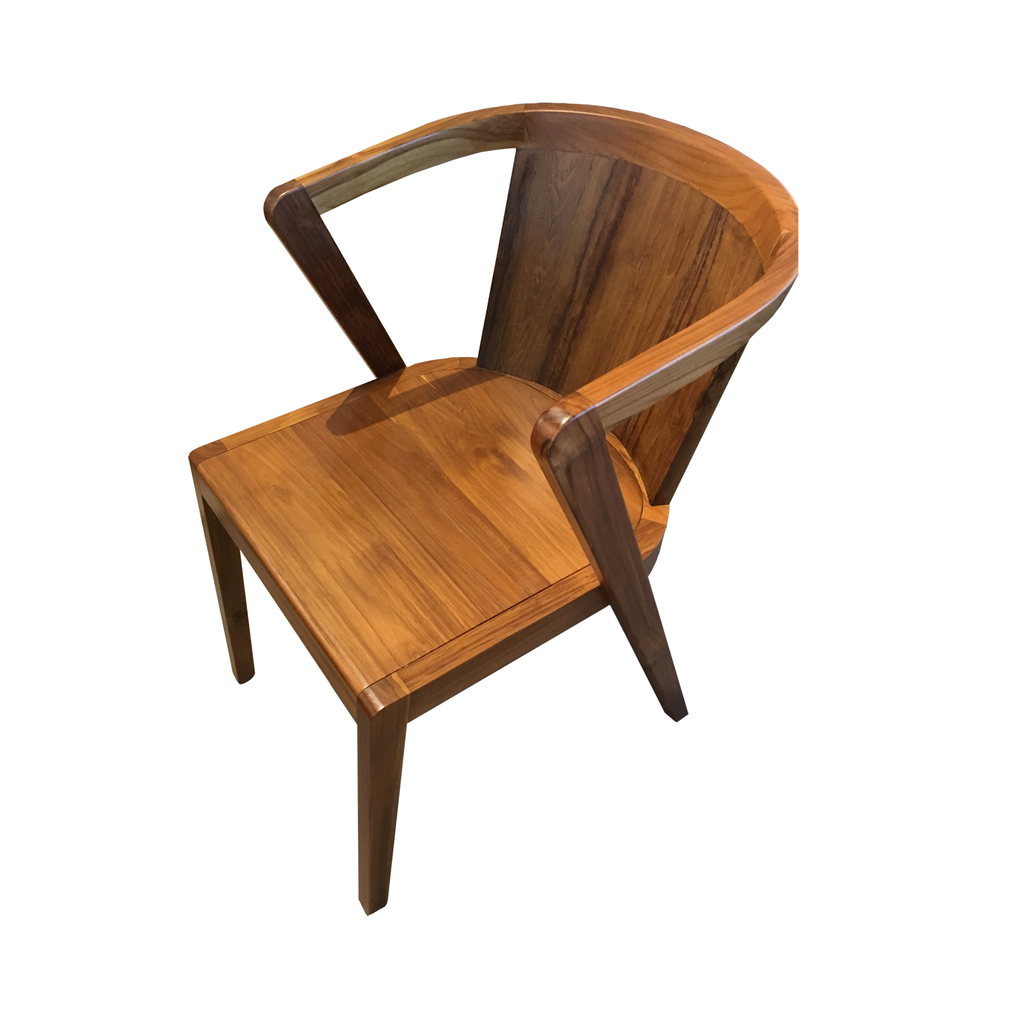 Dining chair f rustic teak