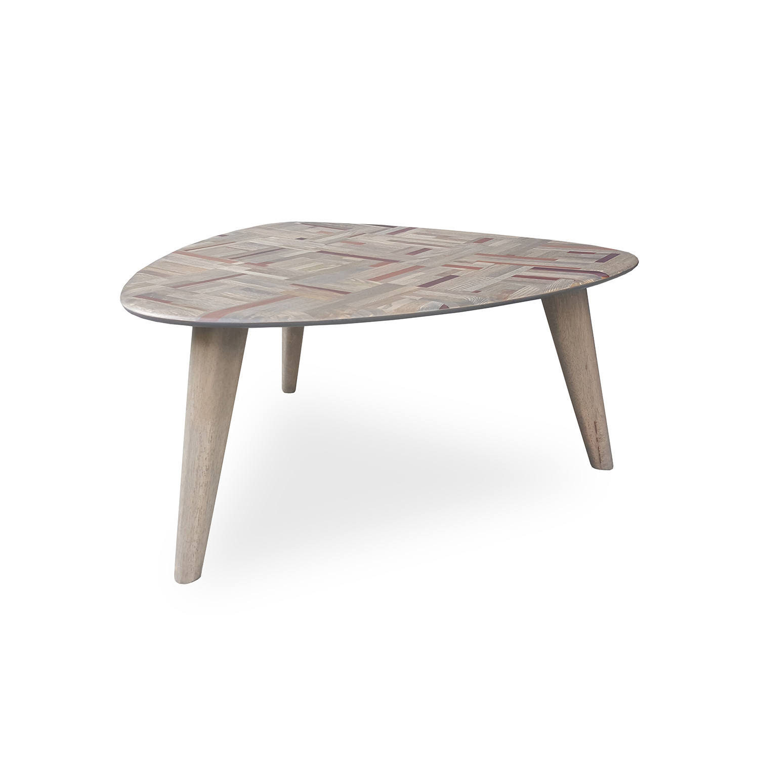 Philos Triangle Coffee Table in Mixwood CFT110 MIX