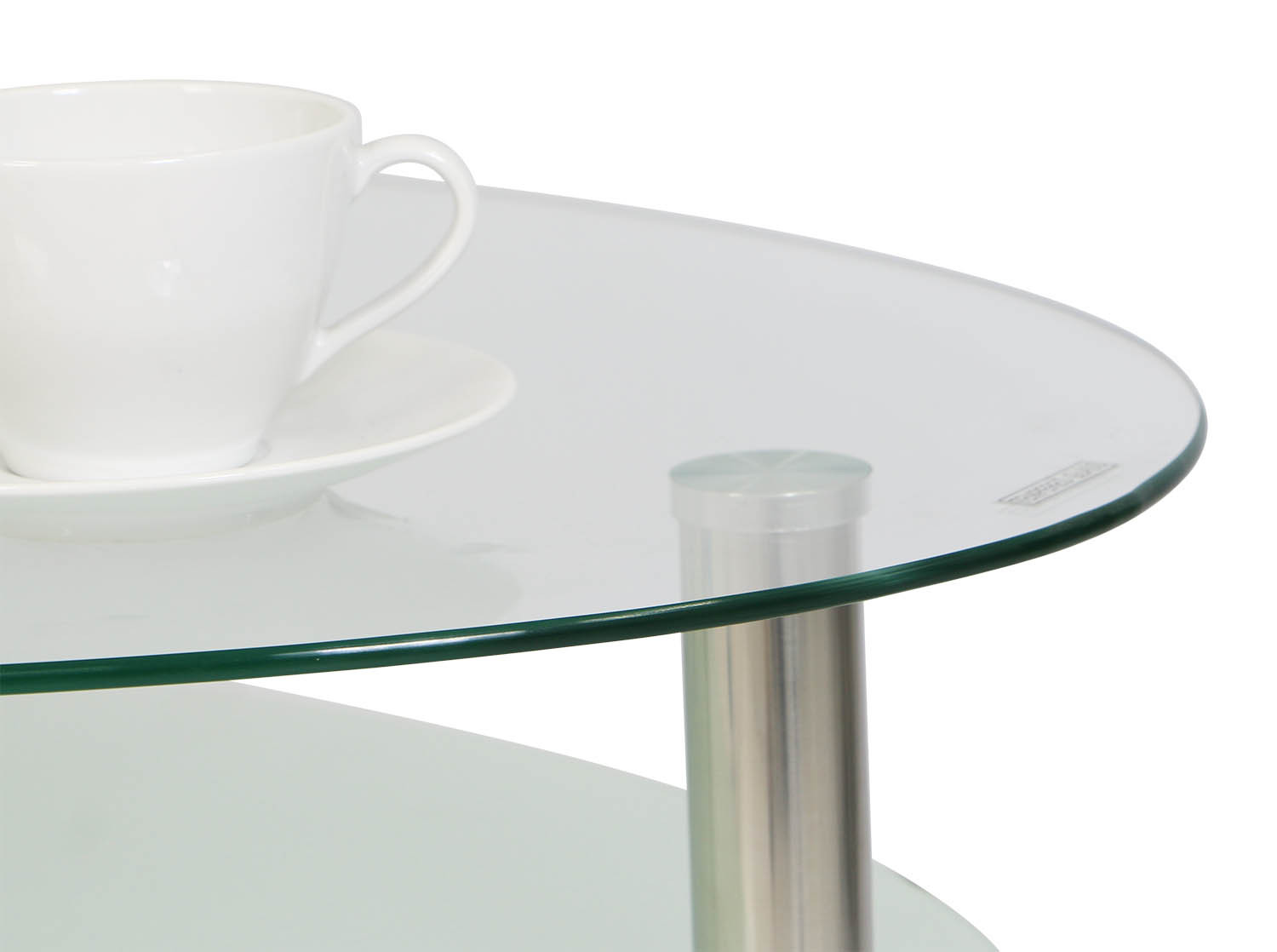Krystal eclipse tempered glass coffee table furniture for Tempered glass coffee table
