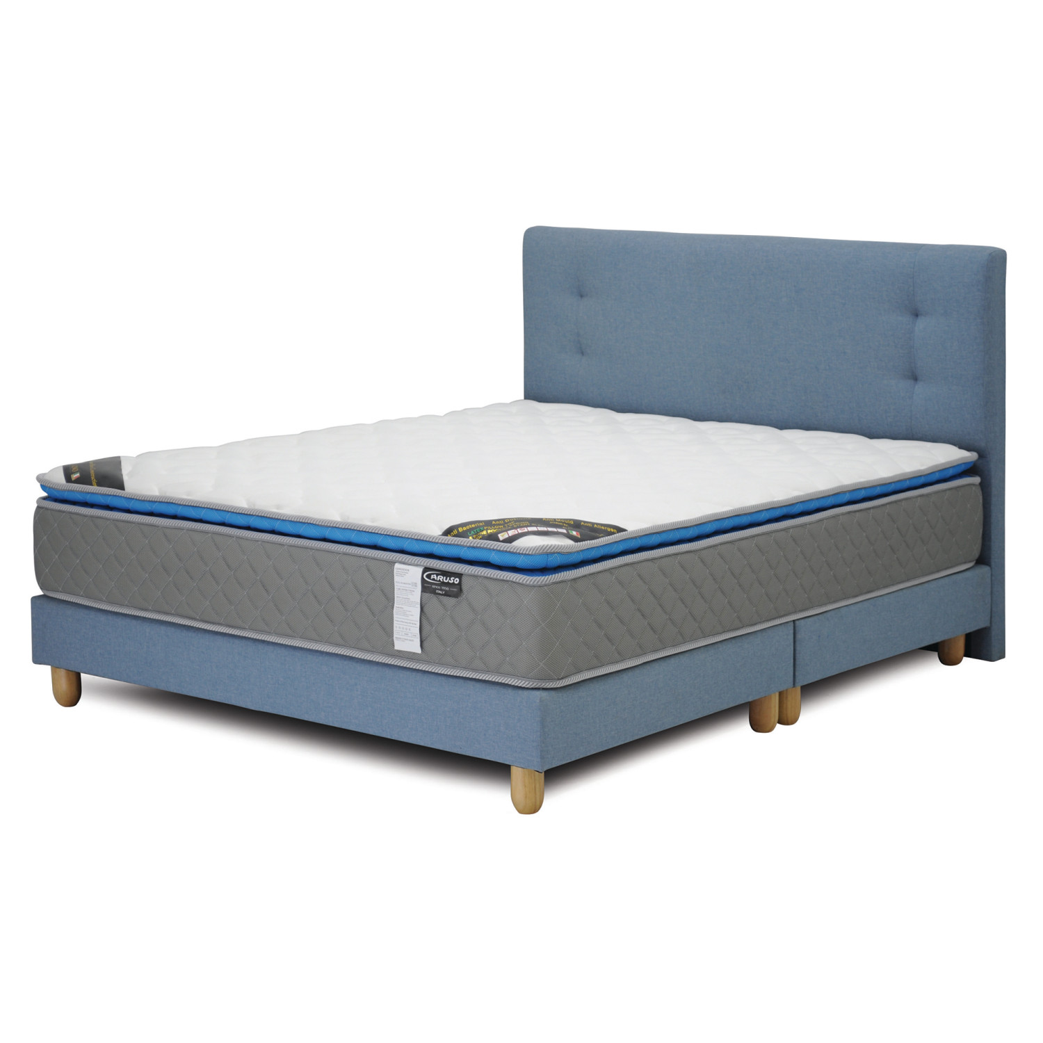 Caruso Package Caruso Latex Spring Mattress Suri Bedframe Queen Sized Furniture Home