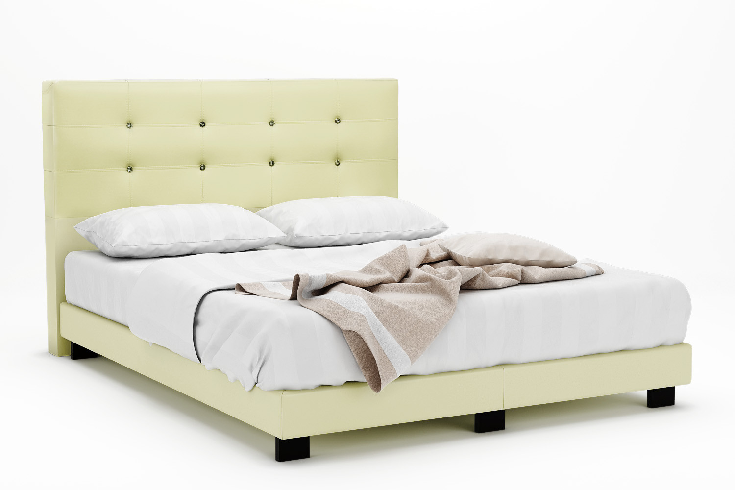 houston faux leather bed frame queen - Bed Frames Houston
