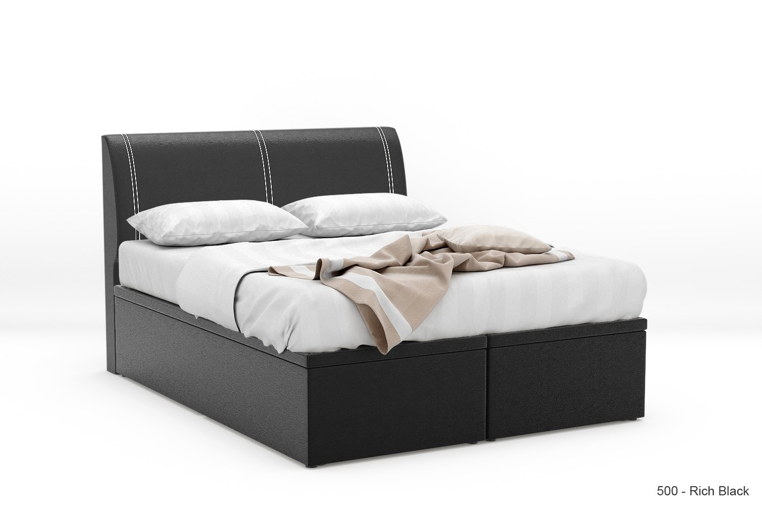 1 Stock Offer: Quadtough Faux Leather Storage Bed Frame (Super ...