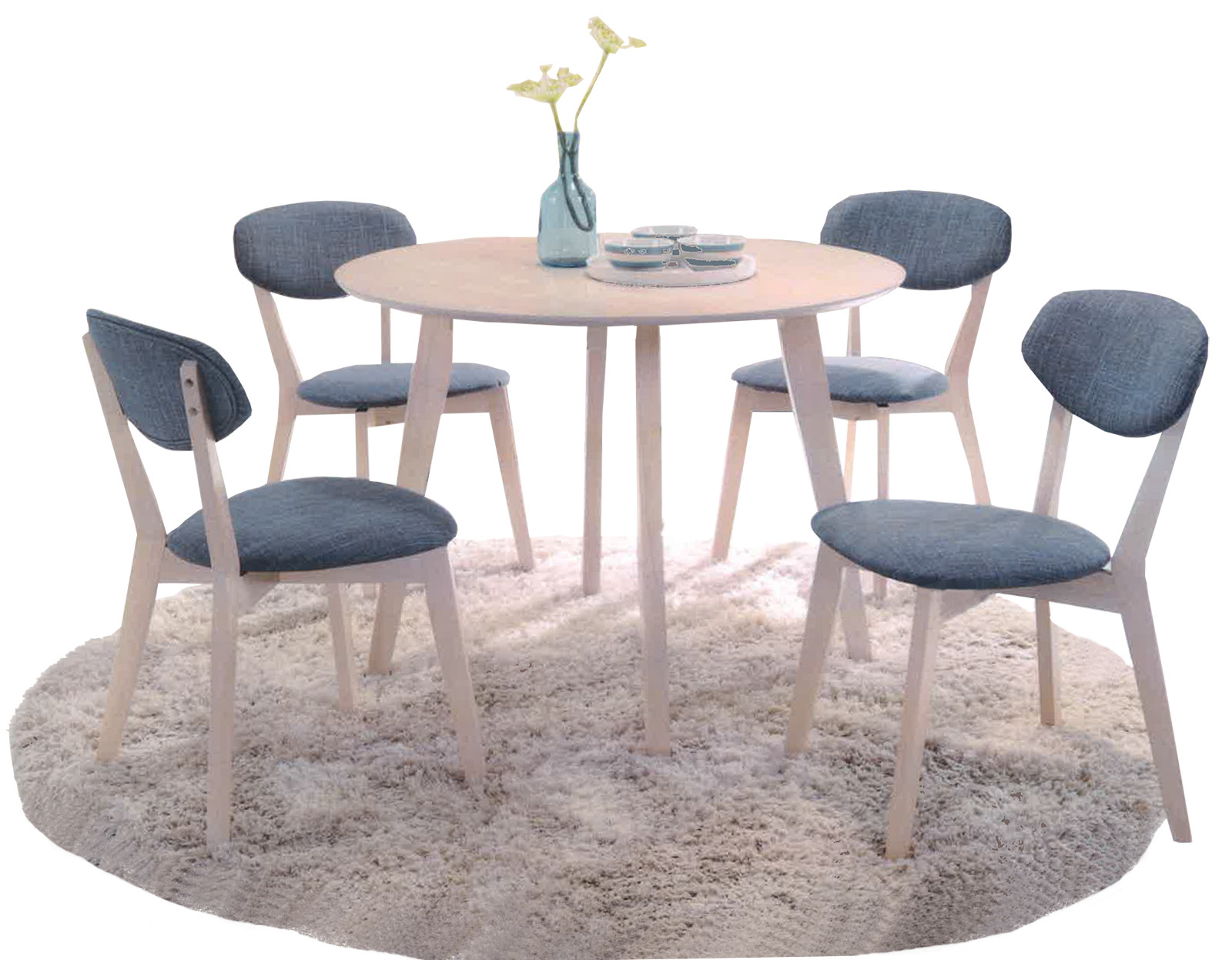 Azure Dining Set Table Chairs Furniture Home Décor FortyTwo - Coffee table with 4 chairs