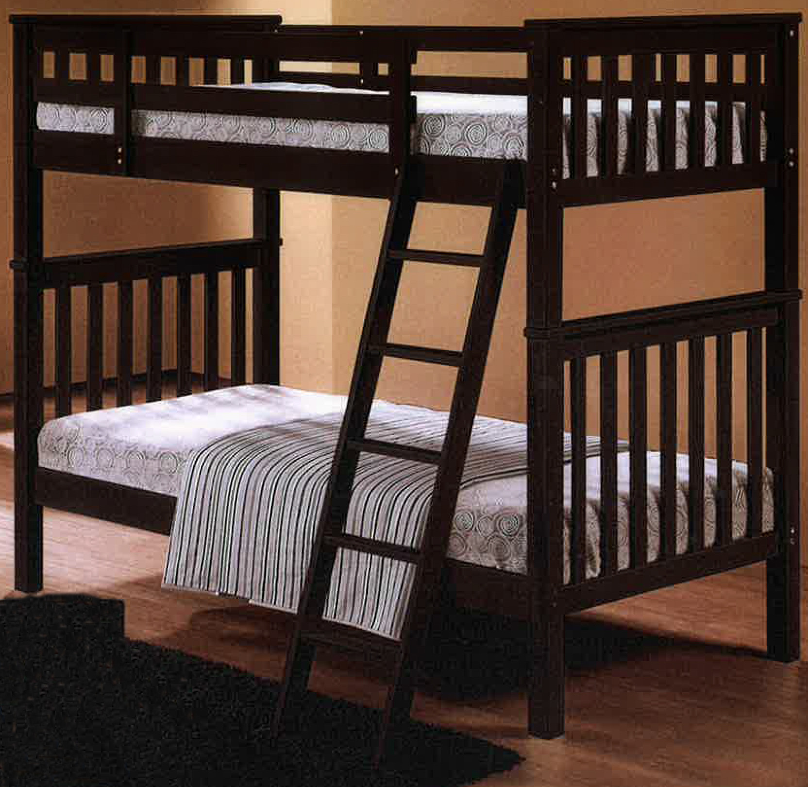 Oppland double decker bed in cappuccino furniture home d cor fortytwo - Double decker bed ...