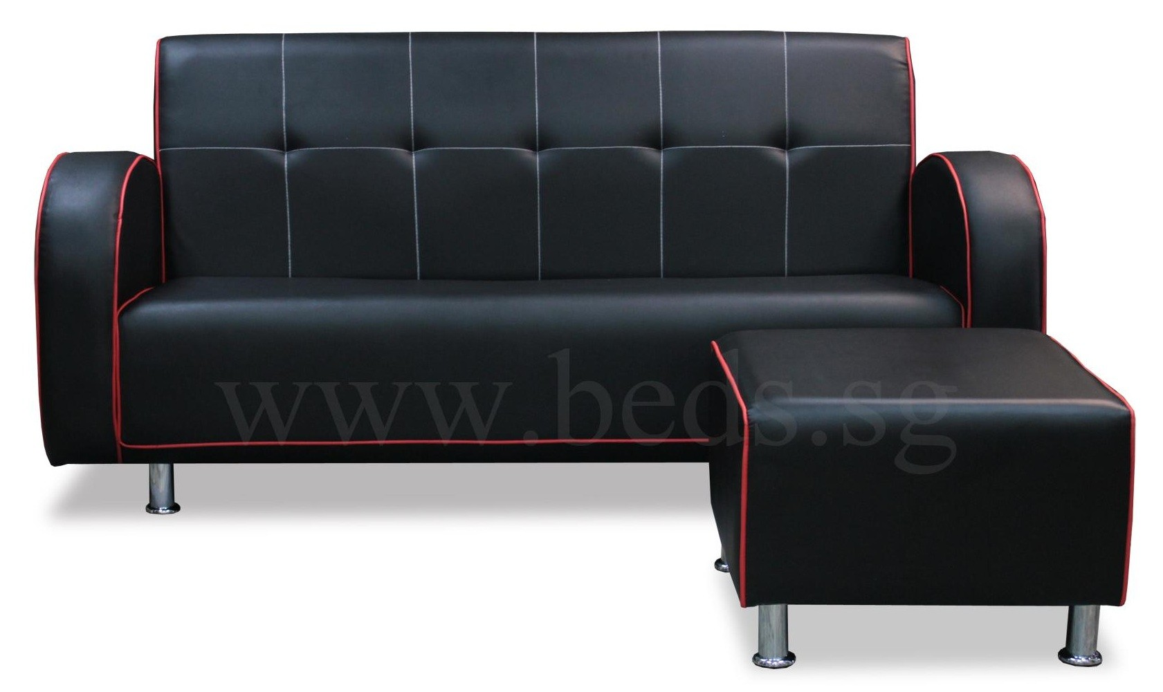 Lava Faux Leather Sofa Set Furniture Home D Cor FortyTwo