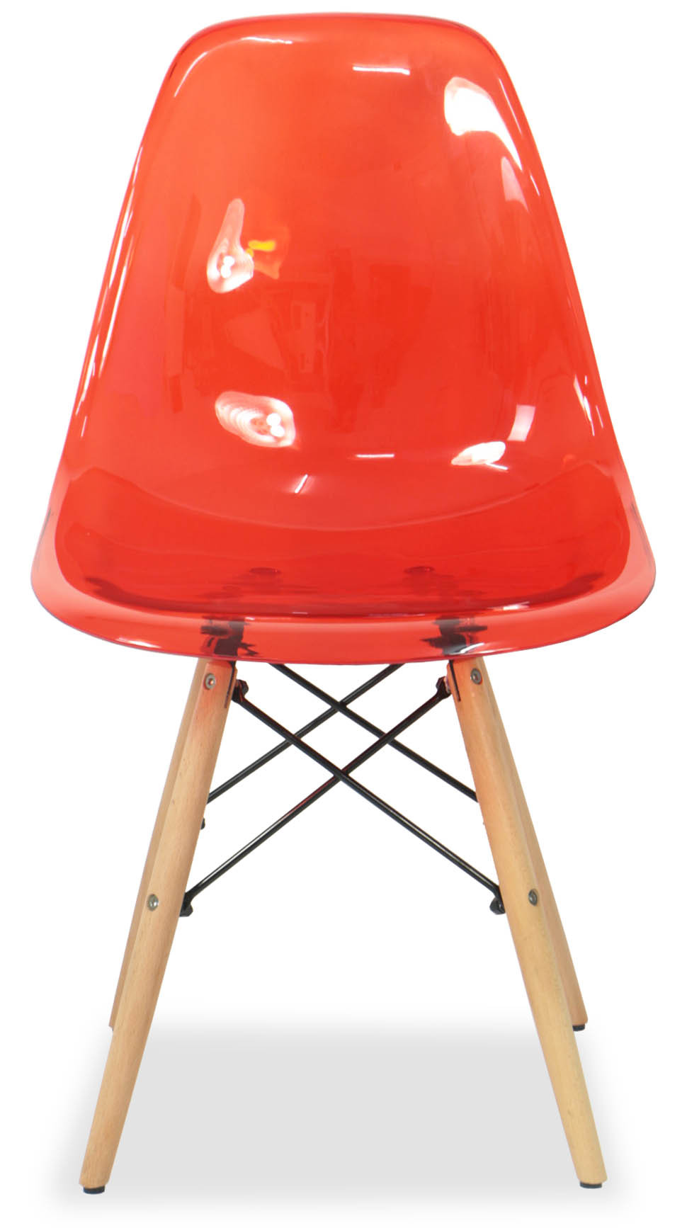 Eames Clear Red Replica Designer Chair