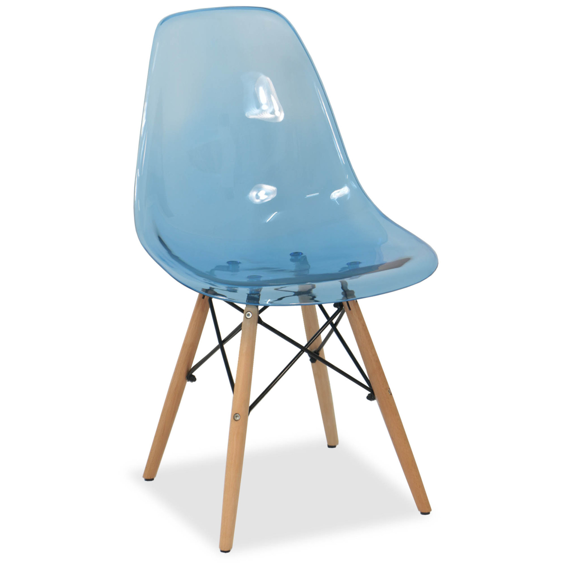 eames clear blue replica designer chair dining chairs