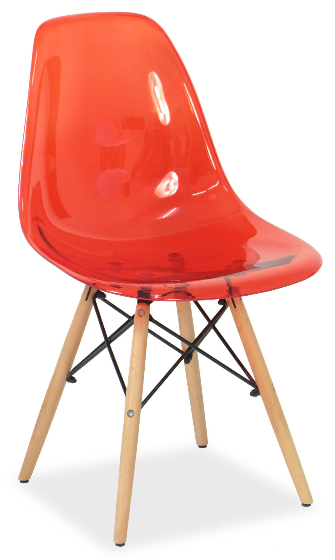Eames clear red replica designer chair chairs seating for Imitation designer chairs