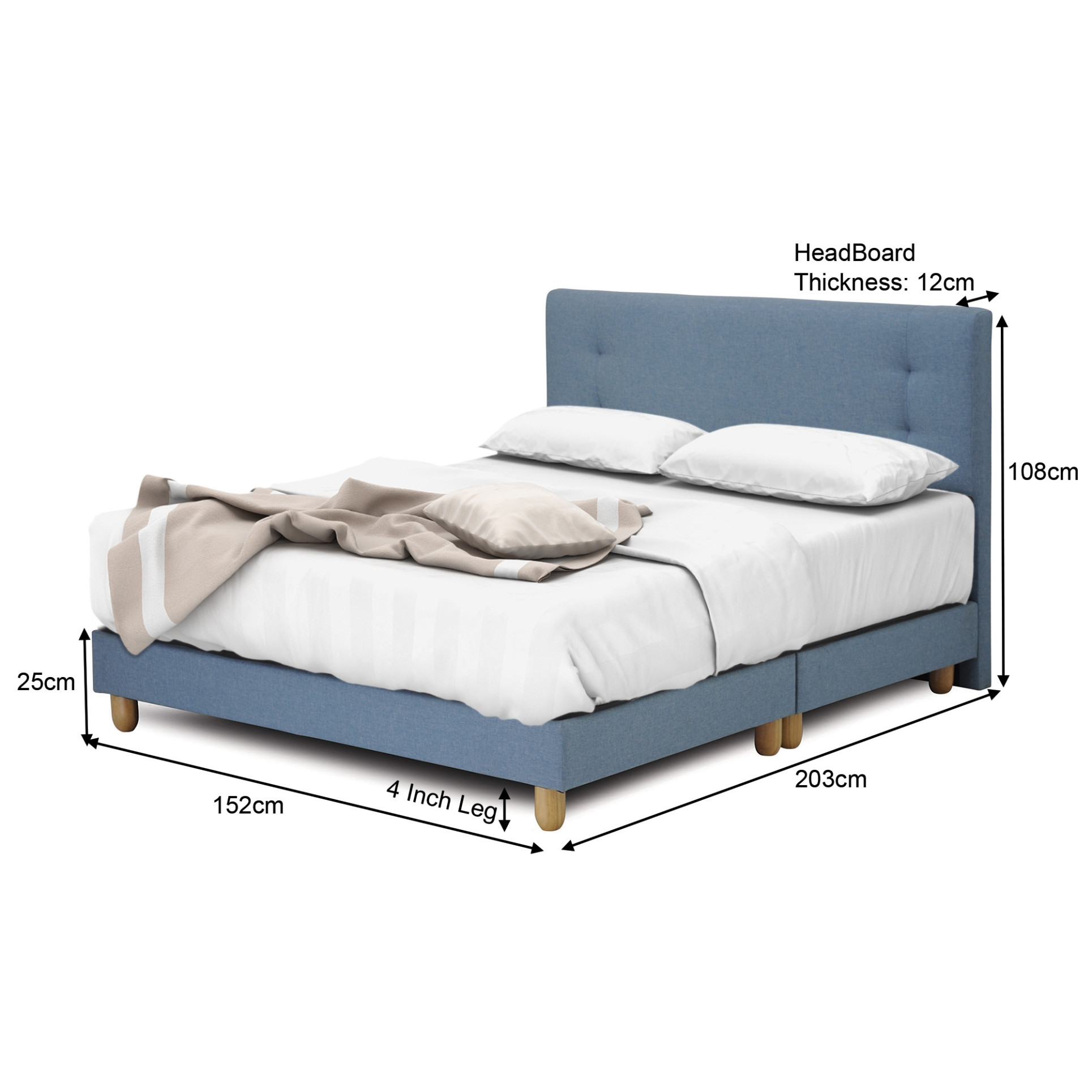 Solano Package: Solano Spring Mattress + Suri BedFrame in QUEEN Size ...