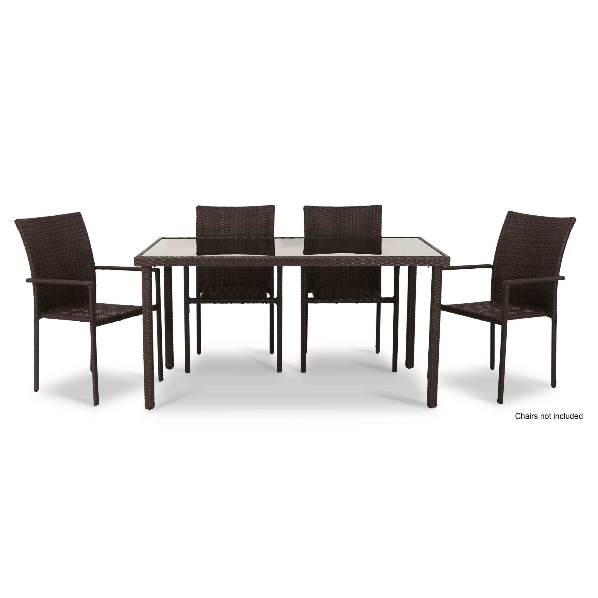 Wakiky outdoor dining table brown furniture home décor