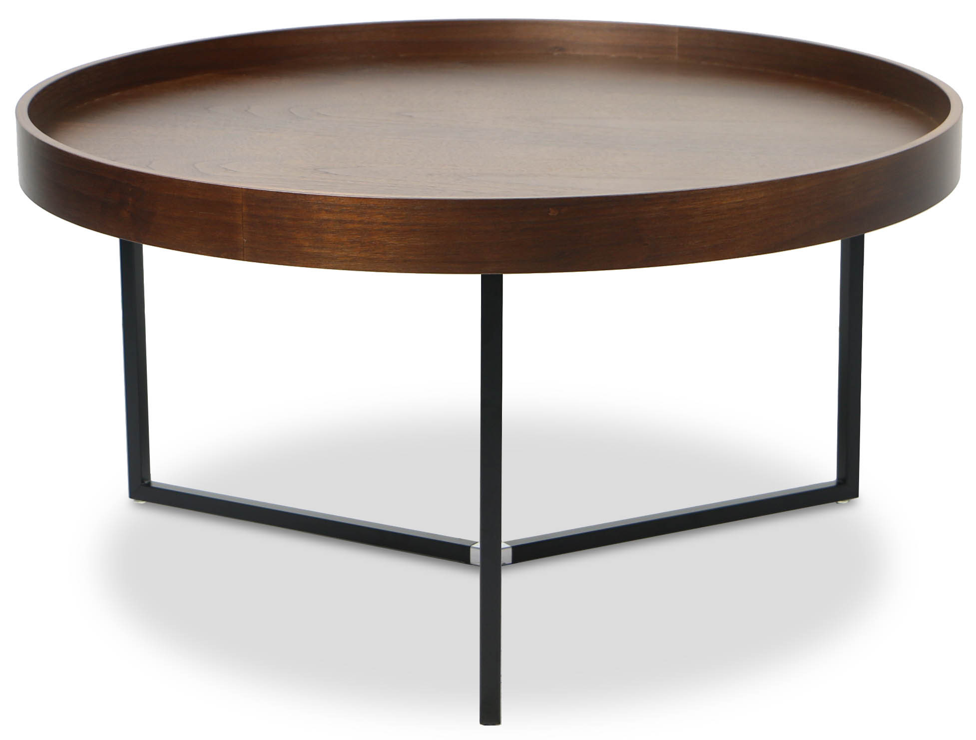 Barrie Walnut Round Tray Table Furniture Amp Home D 233 Cor