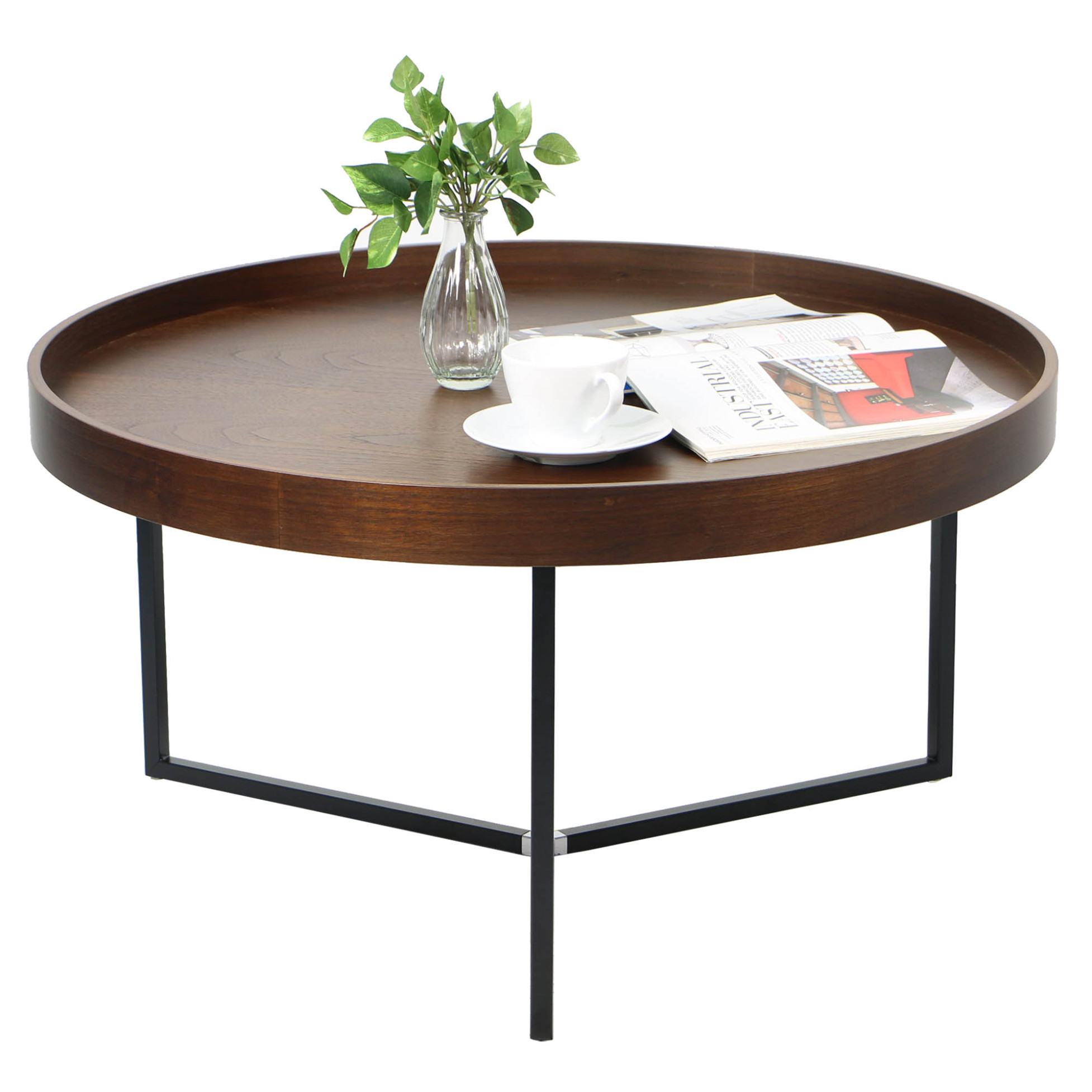 Barrie walnut round tray table regular price s269 00