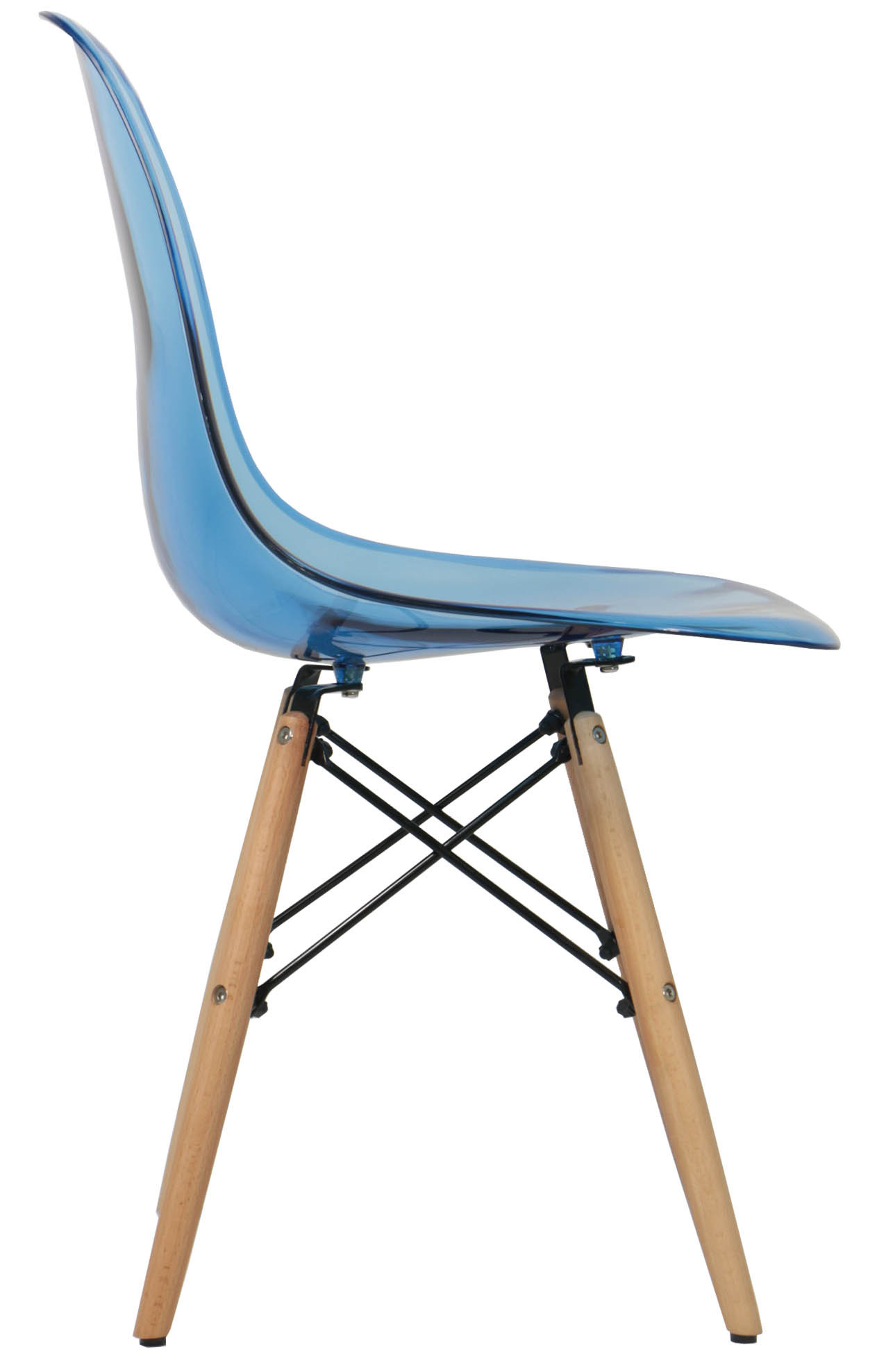 Eames clear blue replica designer chair furniture home for Imitation designer chairs