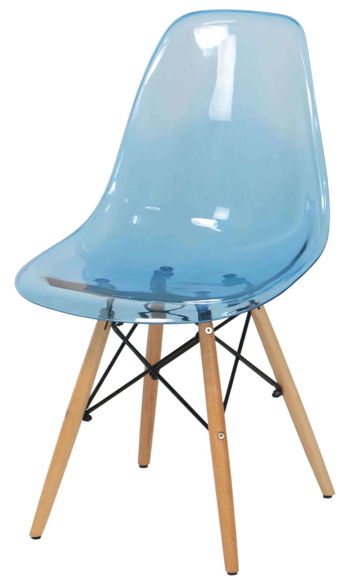 Eames clear blue replica designer chair dining chairs for Imitation designer chairs