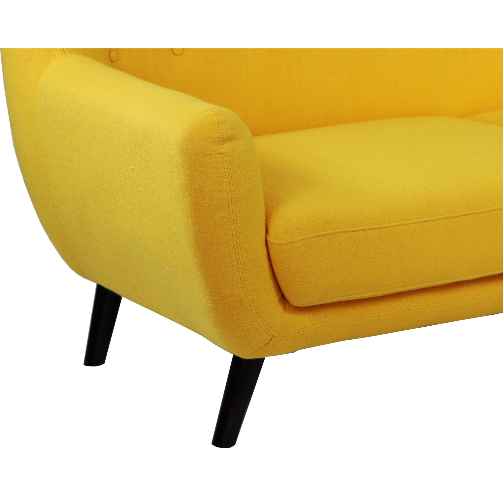Replica wingback designer 2 seater sofa yellow for Designer sofa replica