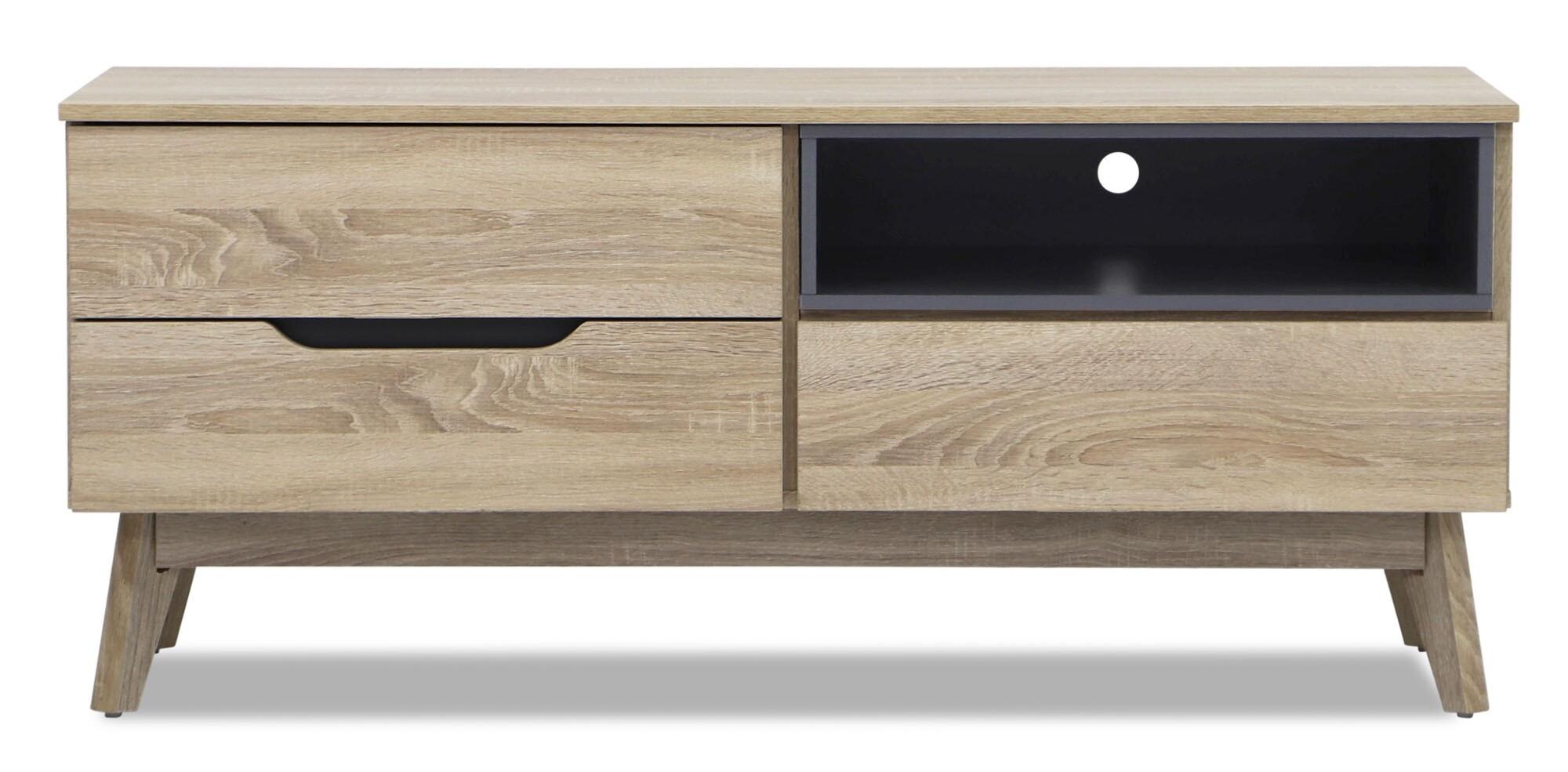 mikala petite tv console furniture home d cor fortytwo. Black Bedroom Furniture Sets. Home Design Ideas