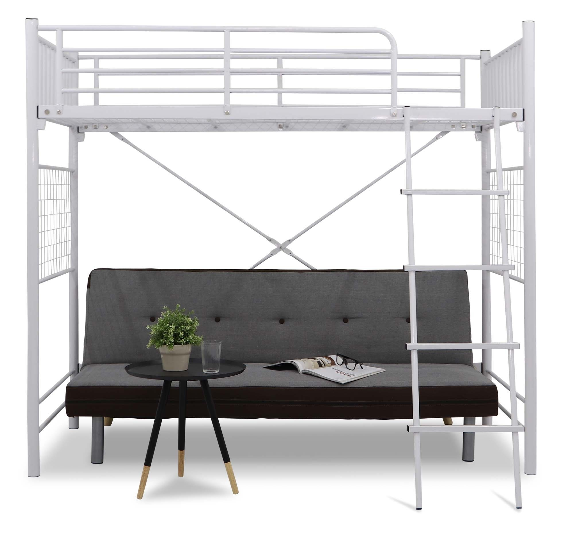 Vitoy Metal Single Size Loft Bed Furniture Home Decor Fortytwo