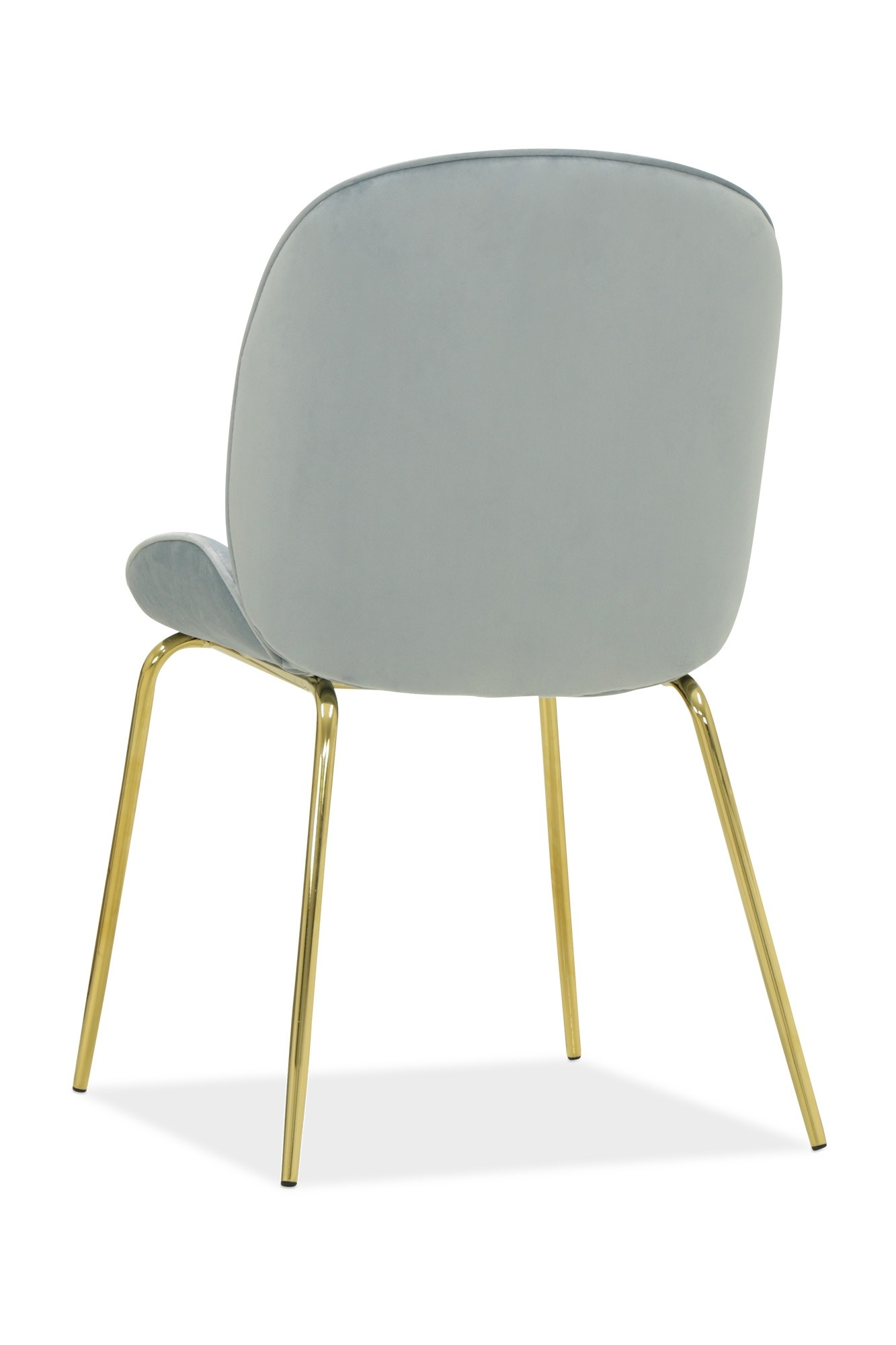 Beetle Chair Replica With Gold Legs Grey Dining Chairs