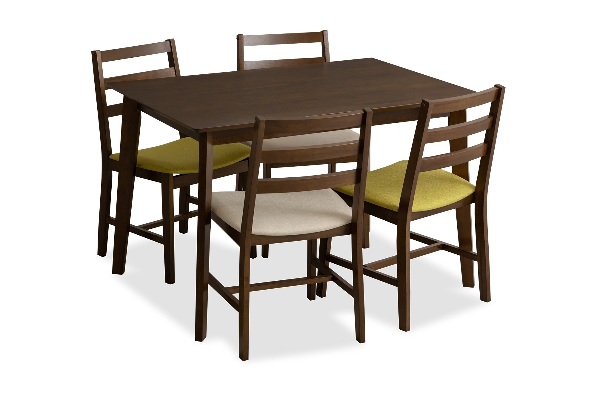 Titus Dining Table Walnut Set A 1 4